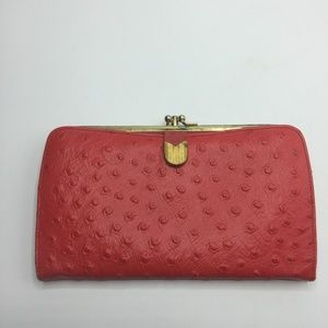 Vintage Bond Street Ostrich Leather Wallet